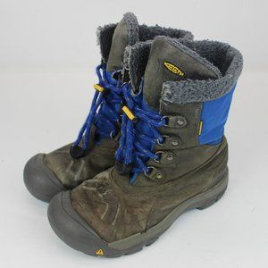 Women's Keen Leather Boots Gray & Blue  Size 6